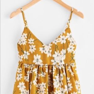 Tops - Floral Baby Doll Top